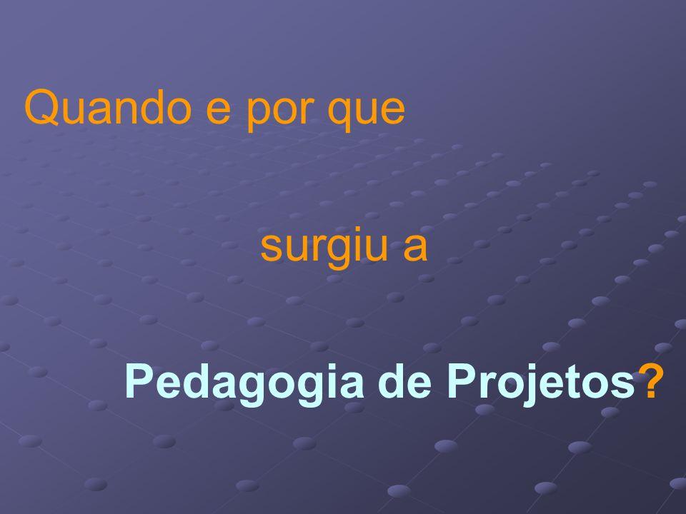 Quando e por que surgiu a Pedagogia de Projetos?