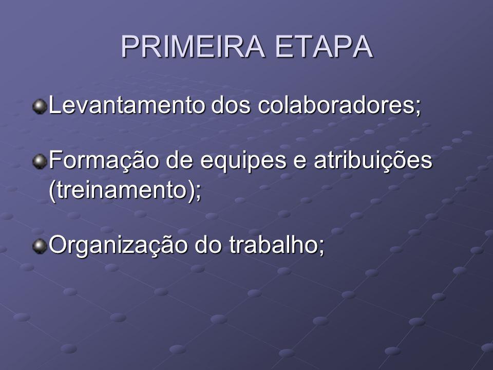 SEGUNDA ETAPA Levantamento de dados e planejamento.
