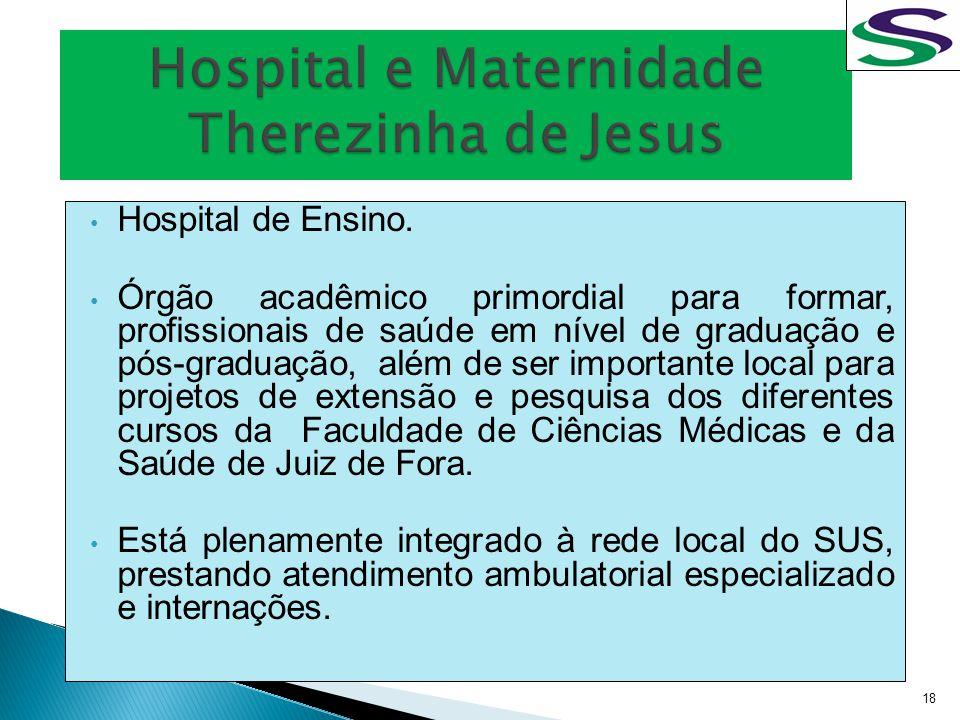 Hospital de Ensino. Órgão acadêmico primordial para formar, profissionais de saúde em nível de graduação e pós-graduação, além de ser importante local