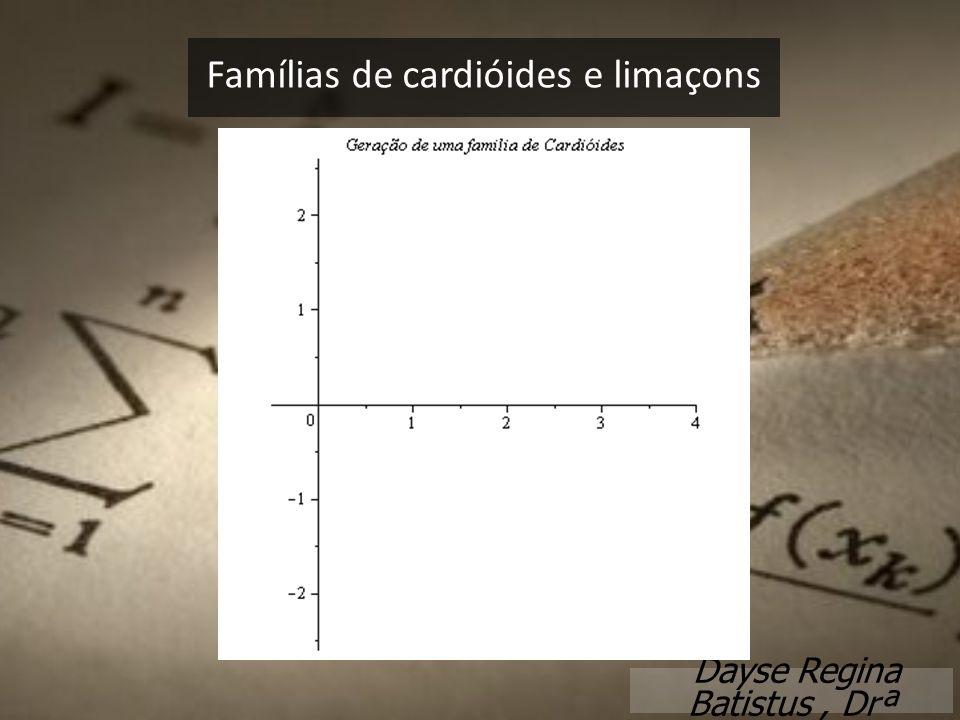 Famílias de cardióides e limaçons Dayse Regina Batistus, Drª