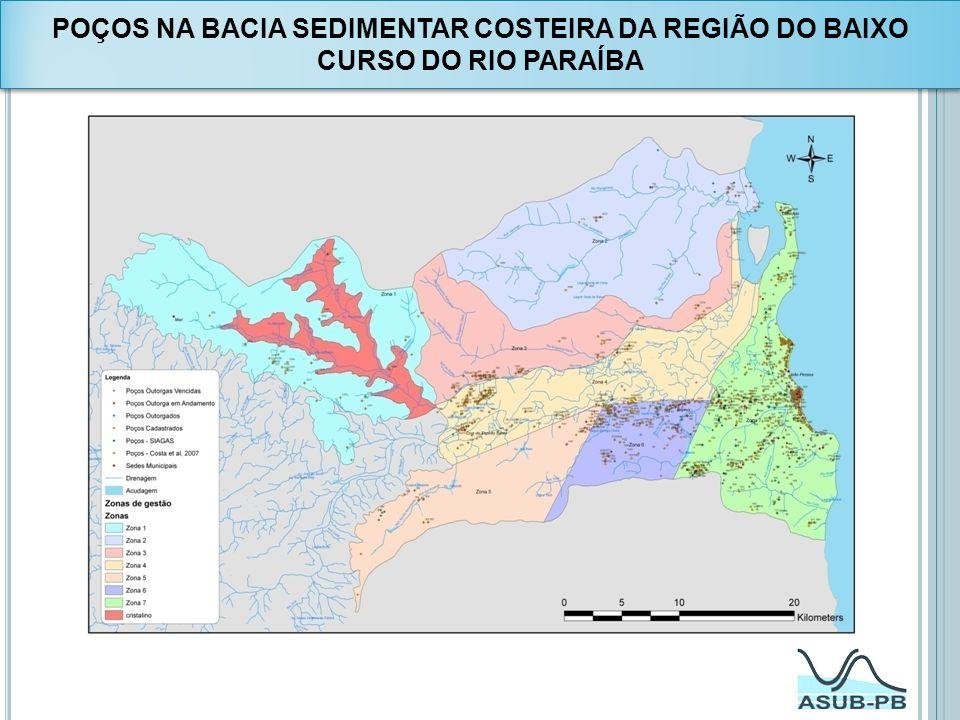 POÇOS NA BACIA SEDIMENTAR COSTEIRA DA REGIÃO DO BAIXO CURSO DO RIO PARAÍBA