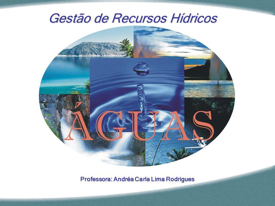Professora: Andréa Carla Lima Rodrigues Gestão de Recursos Hídricos