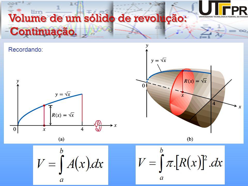 Se a região que girarmos para gerar um sólido não atingir ou cruzar o eixo de revolução, o sólido resultante terá um orifício no meio.