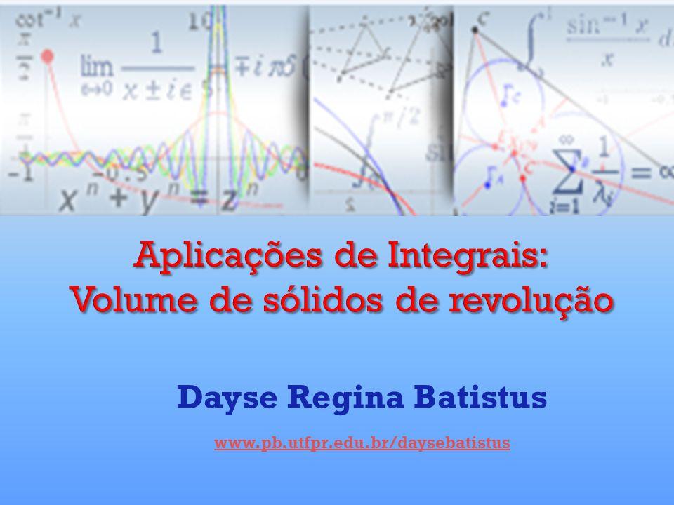 Definição: O volume de um sólido compreendido entre os planos x = a e x = b e cuja área da secção transversal por x é uma função integrável A(x) é a integral de a a b de A,