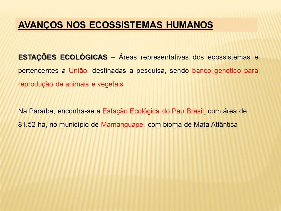 ESTAÇÕES ECOLÓGICAS ESTAÇÕES ECOLÓGICAS – Áreas representativas dos ecossistemas e pertencentes a União, destinadas a pesquisa, sendo banco genético p