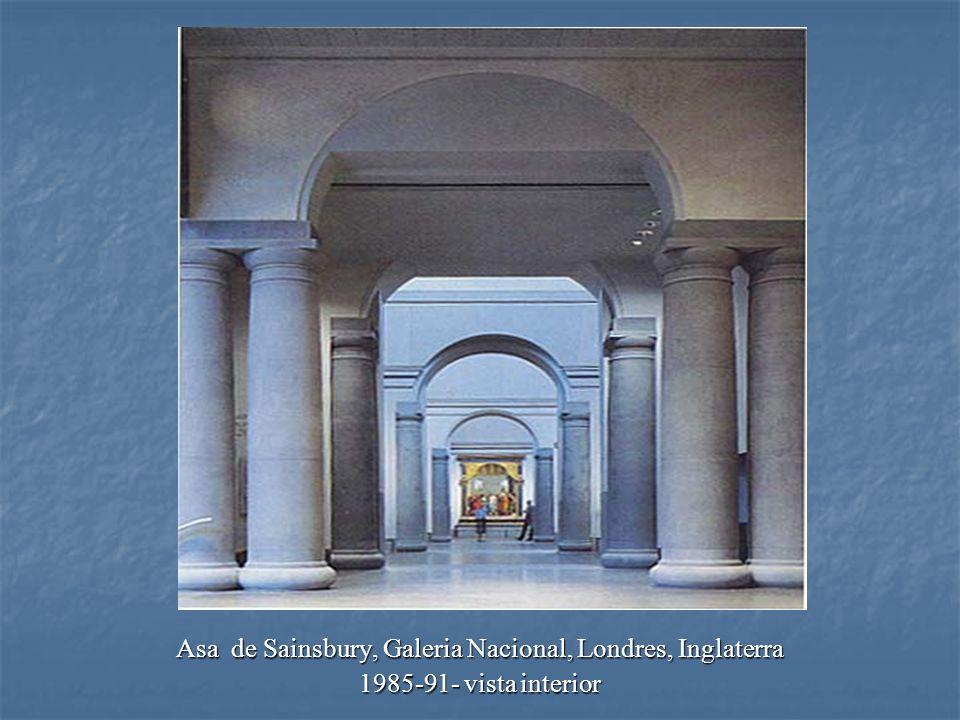 Asa de Sainsbury, Galeria Nacional, Londres, Inglaterra 1985-91- vista interior