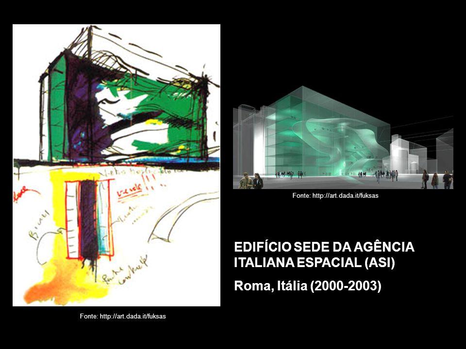 EDIFÍCIO SEDE DA AGÊNCIA ITALIANA ESPACIAL (ASI) Roma, Itália (2000-2003)