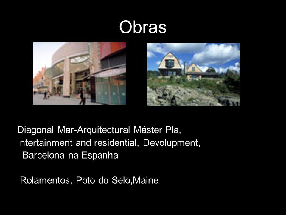 Obras Diagonal Mar-Arquitectural Máster Pla, ntertainment and residential, Devolupment, Barcelona na Espanha Rolamentos, Poto do Selo,Maine