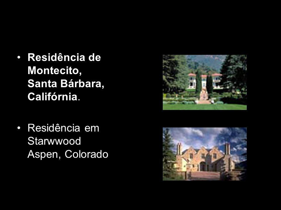 Residência de Montecito, Santa Bárbara, Califórnia. Residência em Starwwood Aspen, Colorado