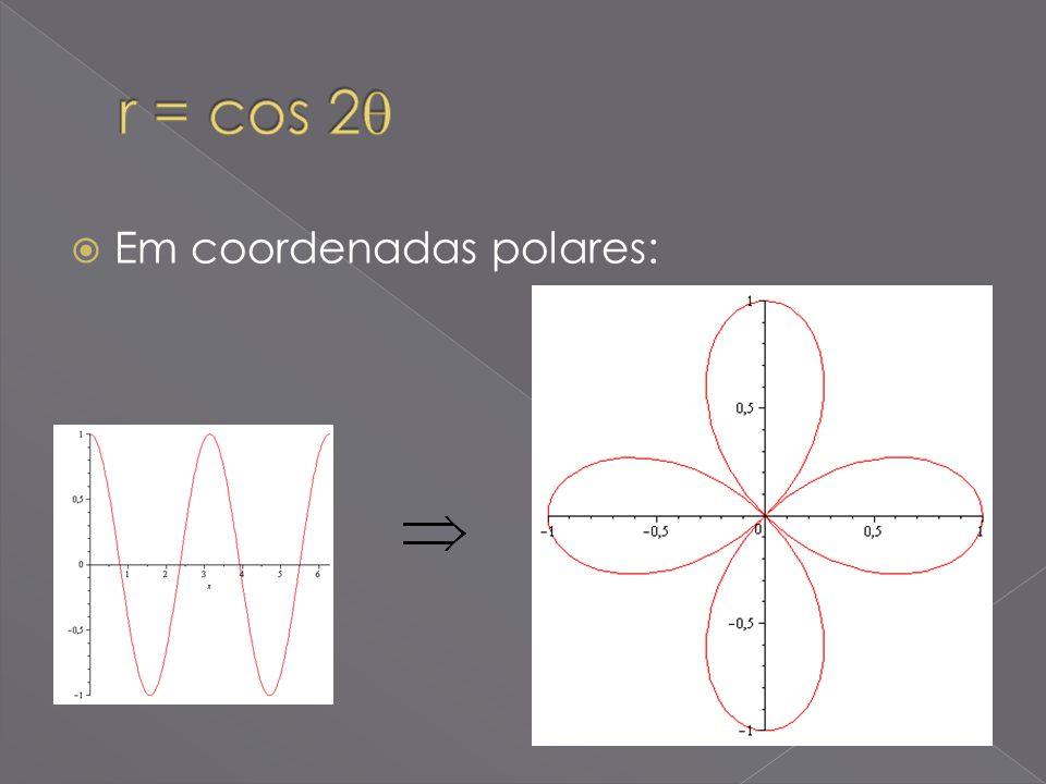 Em coordenadas polares: