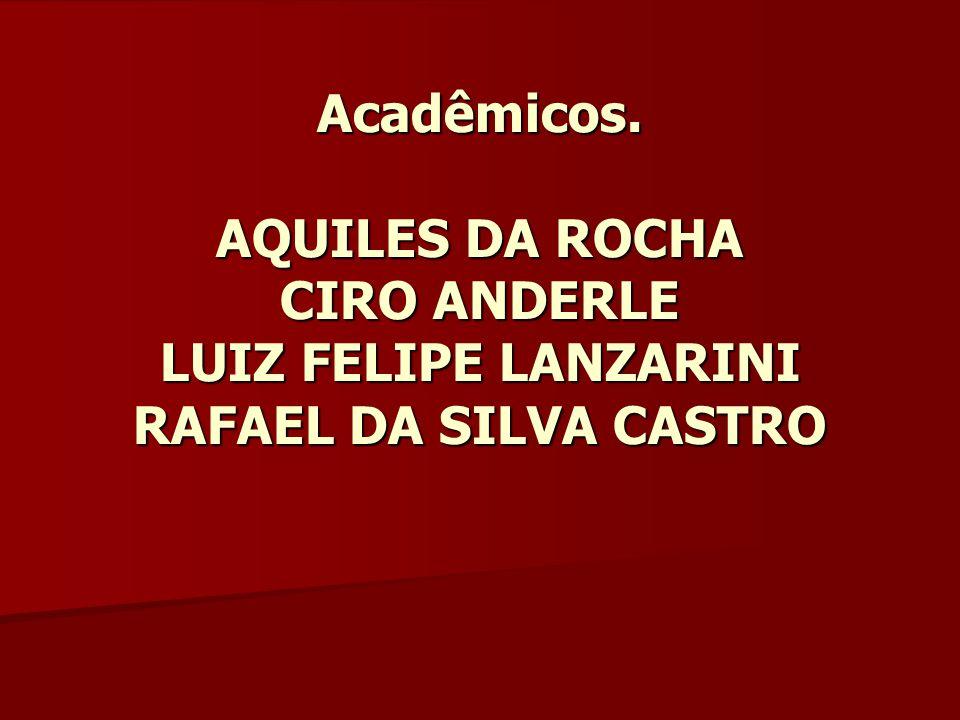 Acadêmicos. AQUILES DA ROCHA CIRO ANDERLE LUIZ FELIPE LANZARINI RAFAEL DA SILVA CASTRO