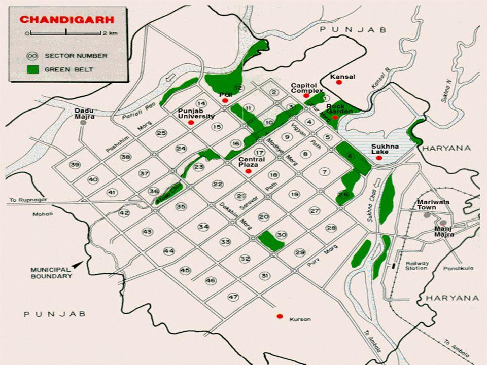 Planejamento Social A cidade está dividida em setores, no entanto essa setorização não teve como primeira intenção favorecer a organização ou a integração social.