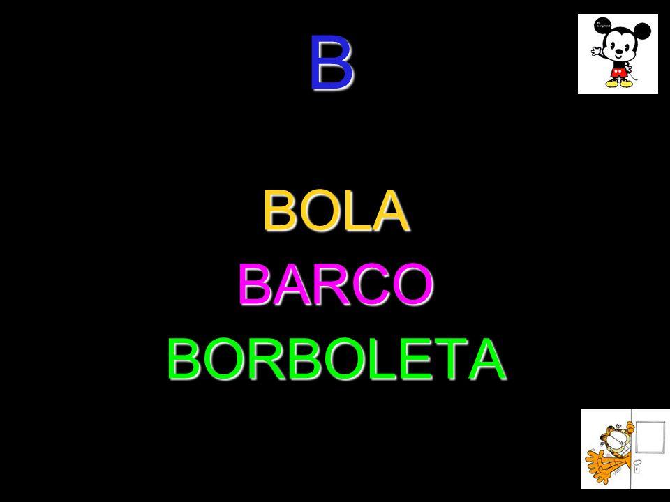 B BOLABARCOBORBOLETA