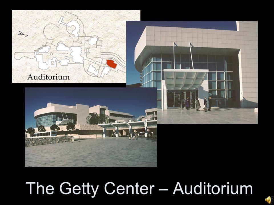 The Getty Center – Auditorium