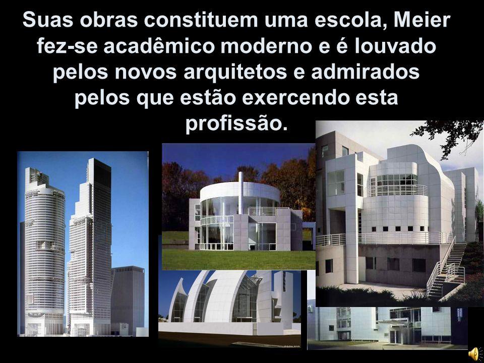 Suas obras constituem uma escola, Meier fez-se acadêmico moderno e é louvado pelos novos arquitetos e admirados pelos que estão exercendo esta profiss