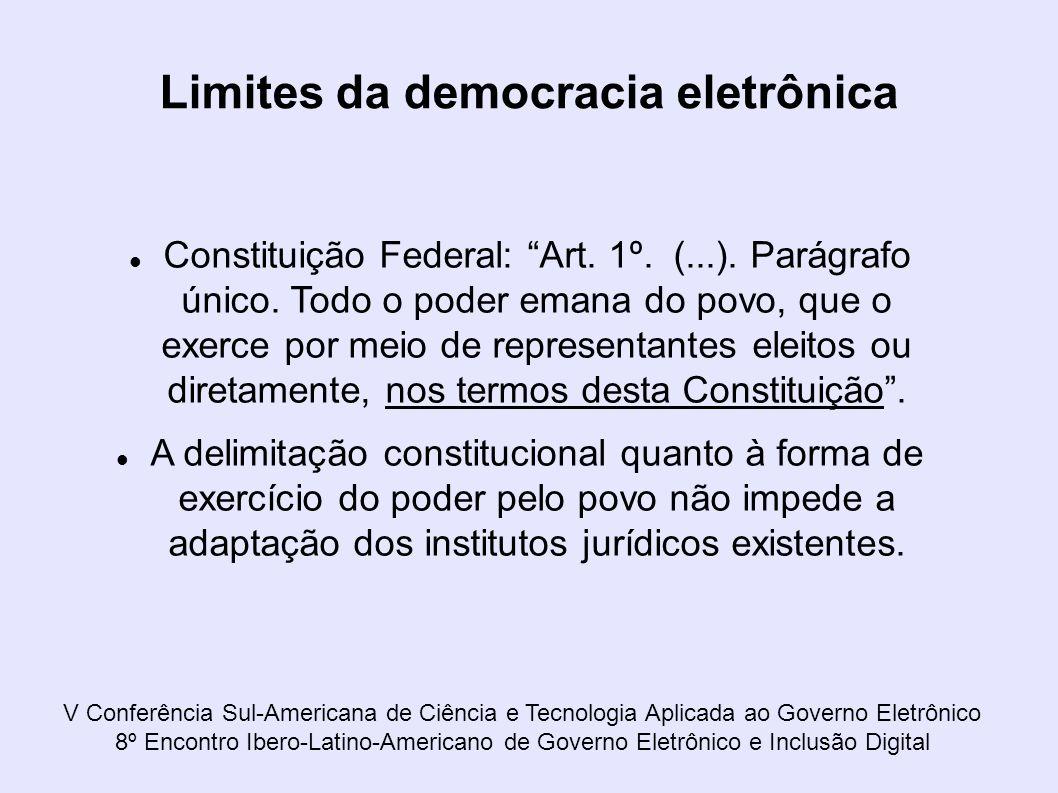 V Conferência Sul-Americana de Ciência e Tecnologia Aplicada ao Governo Eletrônico 8º Encontro Ibero-Latino-Americano de Governo Eletrônico e Inclusão
