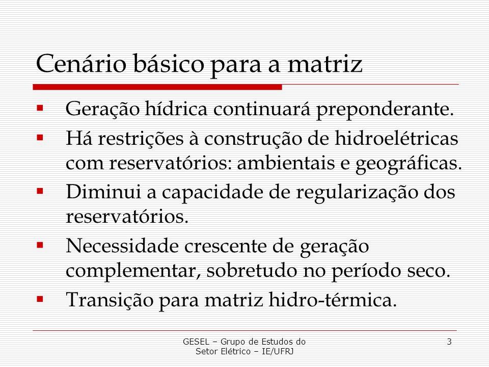 GESEL – Grupo de Estudos do Setor Elétrico – IE/UFRJ 14 Santo Antônio e Jirau: conclusões i.A introdução de Santo Antônio e Jirau aumentou a Garantia Física do Sistema menos que sua Garantia Física legal.