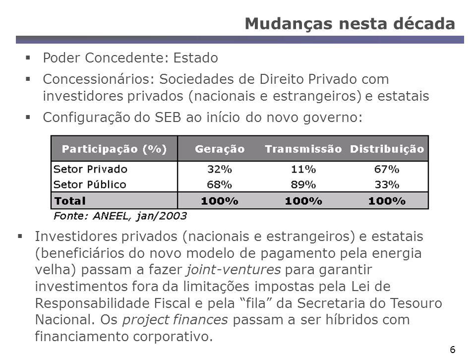 37 Novo modelo de financiamento para o SEB SPE auto-sustentáveis (joint-venture) com participação minoritária estatal, para permitir o financiamento por agentes financeiros públicos em condições de operar.