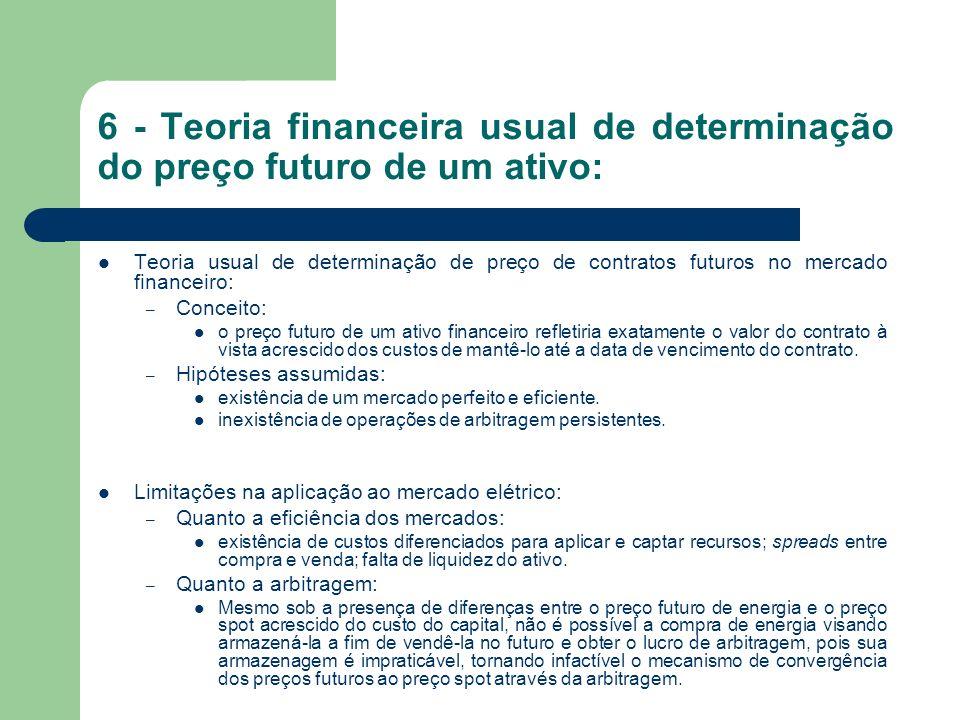7 - Precificação de derivativos: Alternativa: – Estudo das ferramentas existentes de previsão de preço futuro mais promissoras para aplicação na precificação de derivativos para o caso específico do setor.