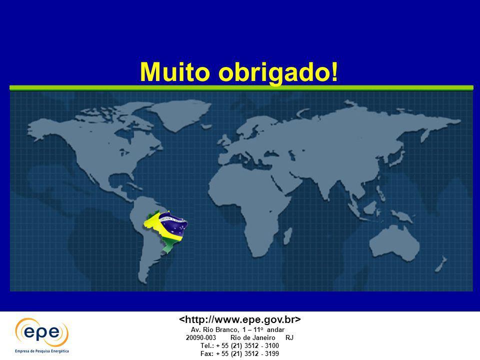 Muito obrigado! Av. Rio Branco, 1 – 11 o andar 20090-003 Rio de Janeiro RJ Tel.: + 55 (21) 3512 - 3100 Fax: + 55 (21) 3512 - 3199