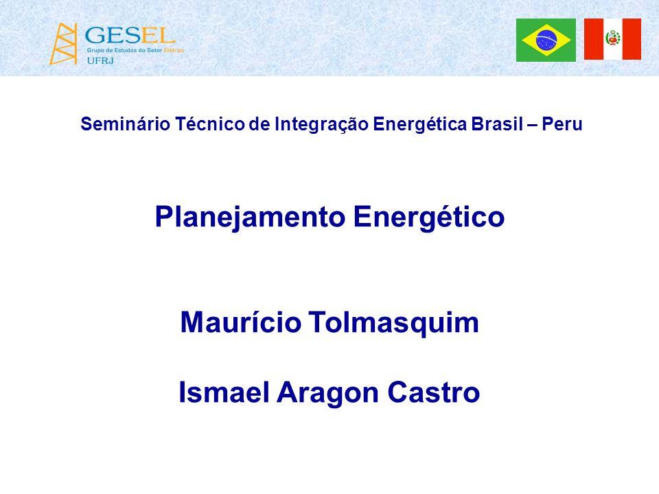 Seminário Técnico de Integração Energética Brasil – Peru Planejamento Energético Maurício Tolmasquim Ismael Aragon Castro