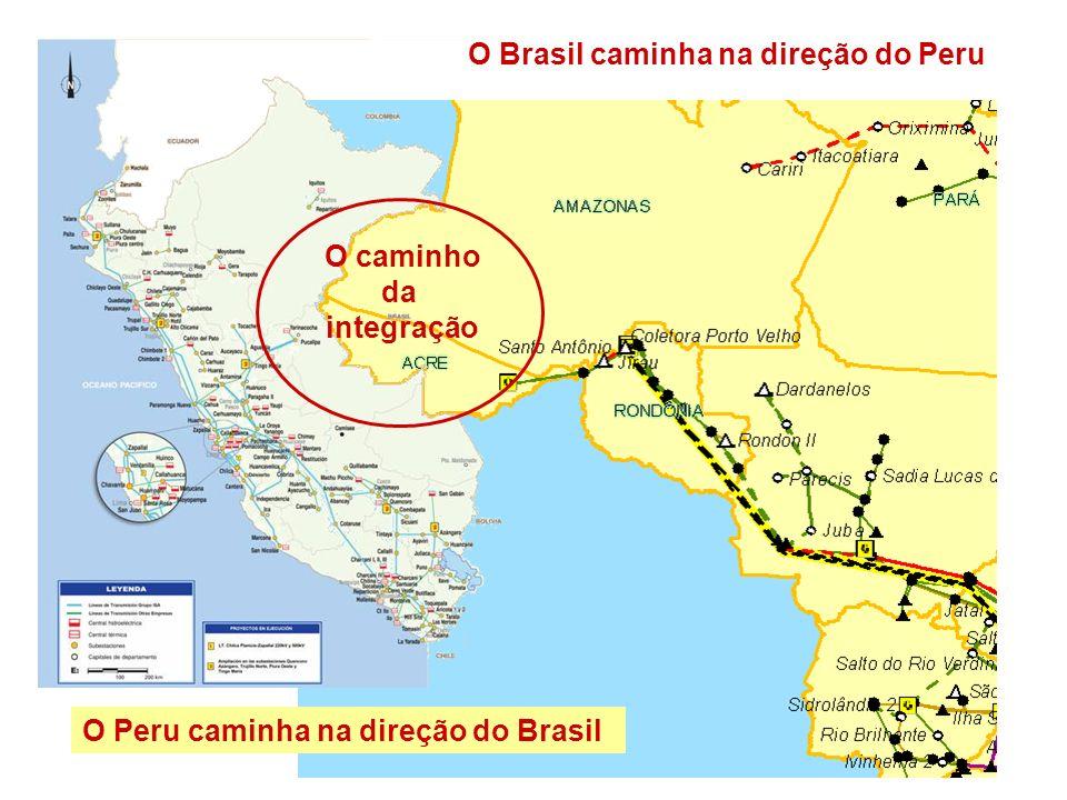 O Brasil caminha na direção do Peru O Peru caminha na direção do Brasil O caminho da integração
