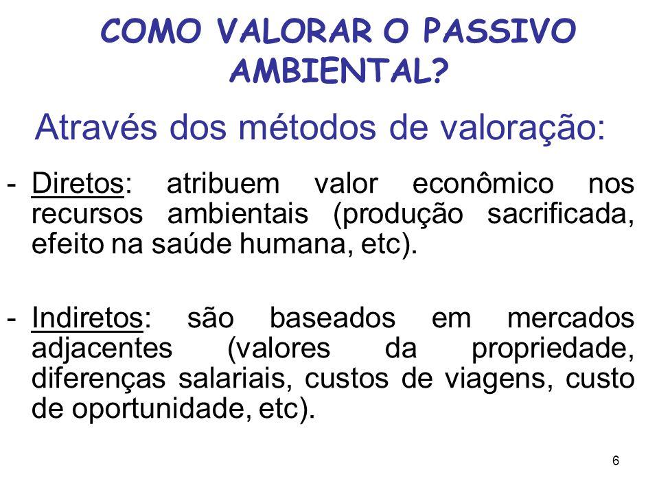 6 COMO VALORAR O PASSIVO AMBIENTAL.