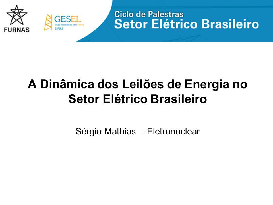 A Dinâmica dos Leilões de Energia no Setor Elétrico Brasileiro Sérgio Mathias - Eletronuclear