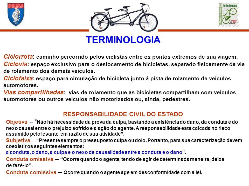 TERMINOLOGIA Ciclorrota: caminho percorrido pelos ciclistas entre os pontos extremos de sua viagem. Ciclovia : espaço exclusivo para o deslocamento de