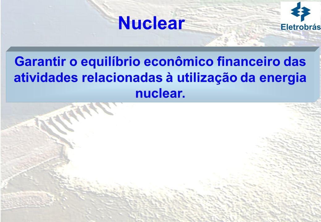 Garantir o equilíbrio econômico financeiro das atividades relacionadas à utilização da energia nuclear. Nuclear