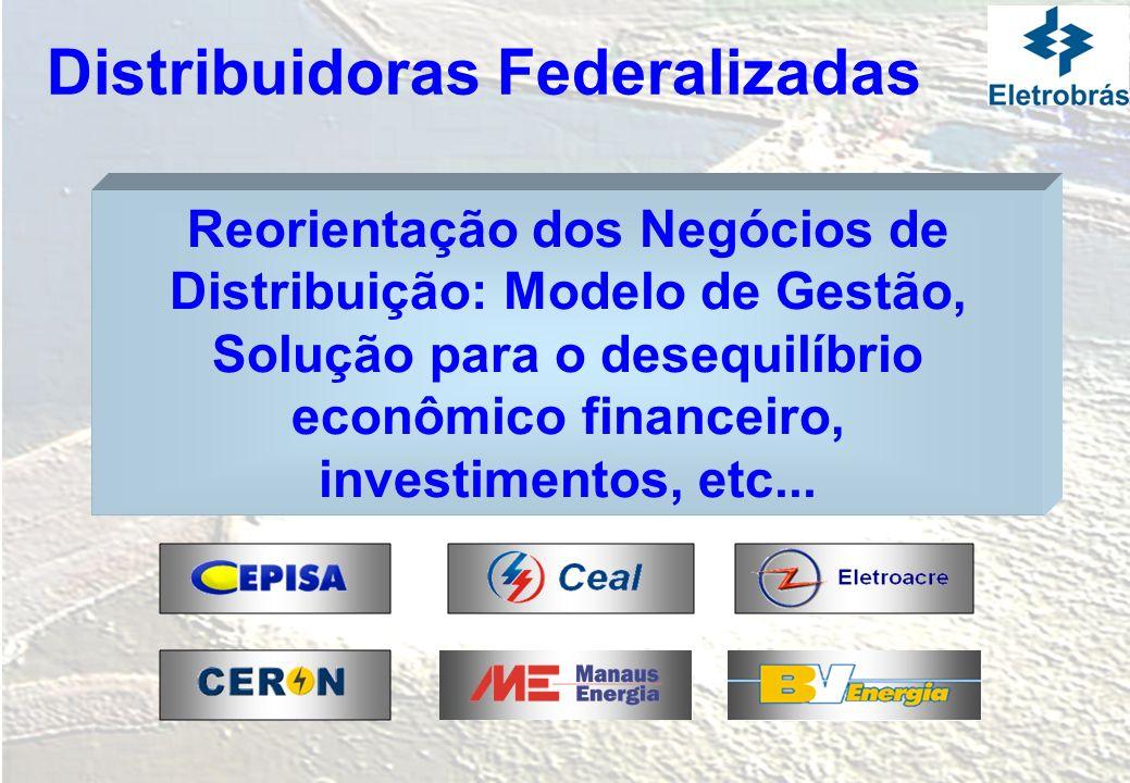 Reorientação dos Negócios de Distribuição: Modelo de Gestão, Solução para o desequilíbrio econômico financeiro, investimentos, etc... Distribuidoras F