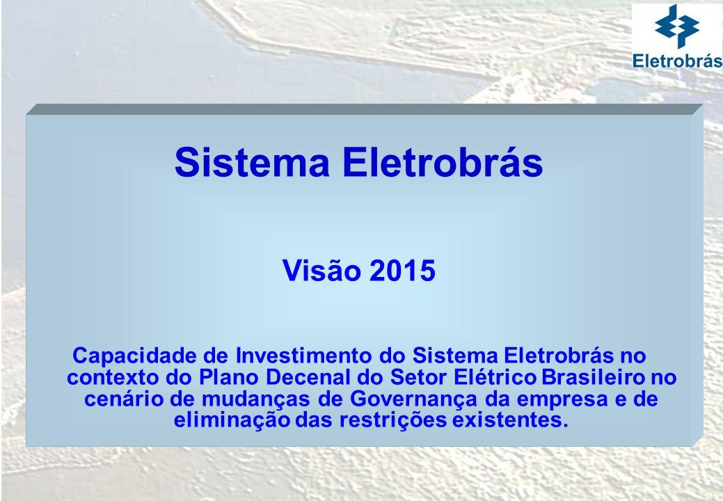 Sistema Eletrobrás Visão 2015 Capacidade de Investimento do Sistema Eletrobrás no contexto do Plano Decenal do Setor Elétrico Brasileiro no cenário de