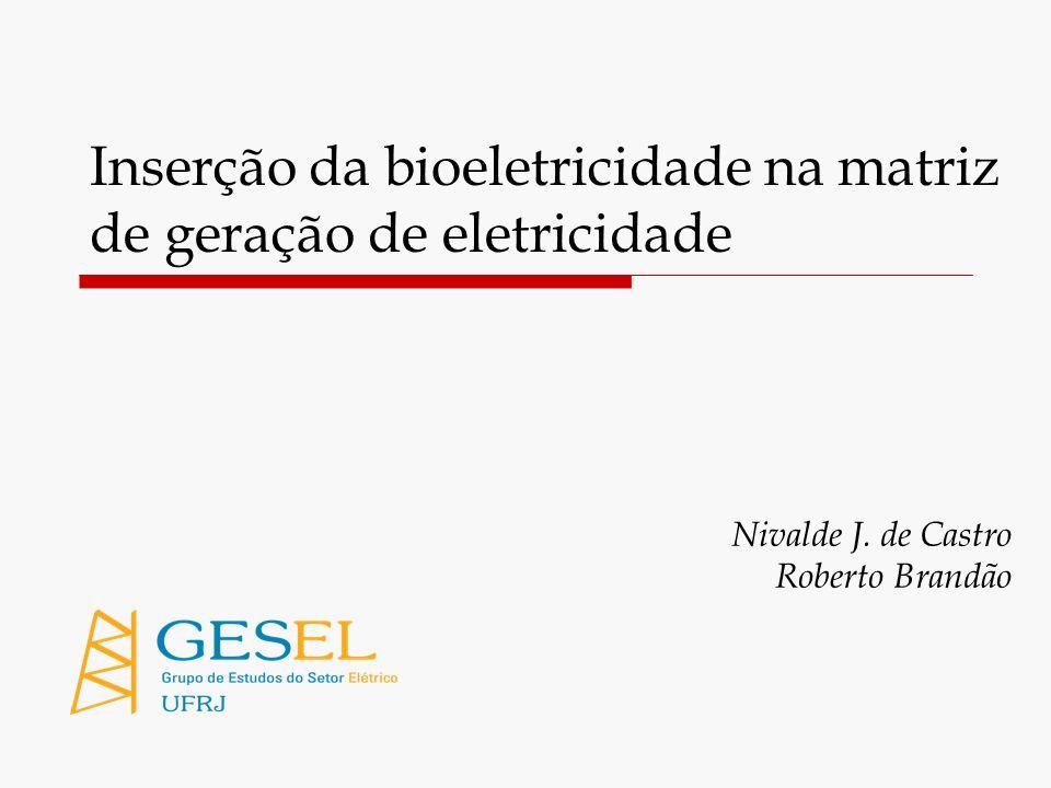 2 Estudos do Gesel sobre a matriz de geração e os Leilões de Energia Nova 1.