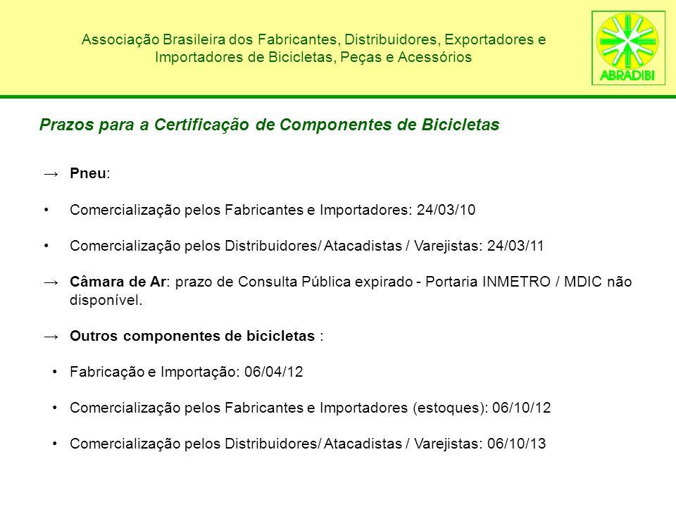 Associação Brasileira dos Fabricantes, Distribuidores, Exportadores e Importadores de Bicicletas, Peças e Acessórios Pneu: Comercialização pelos Fabri