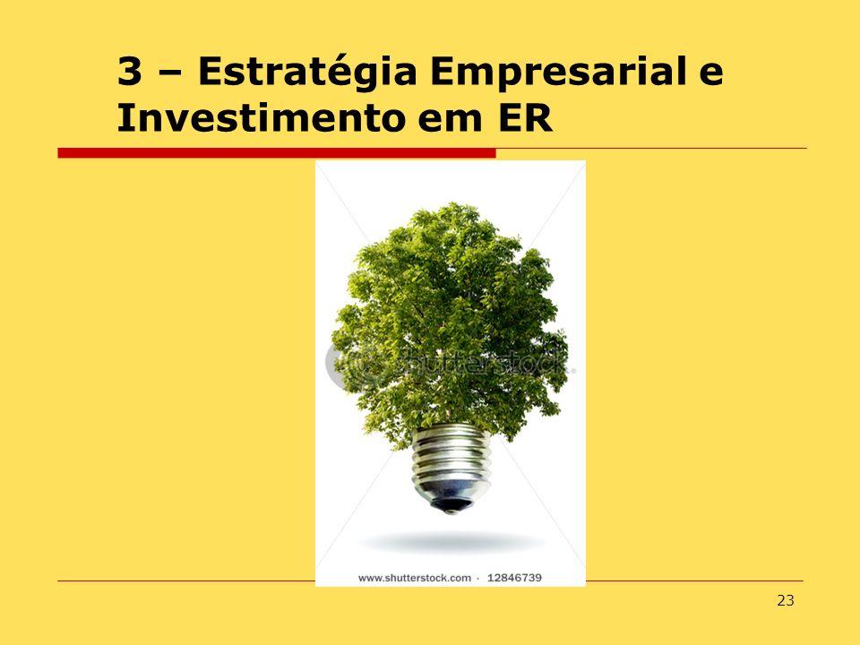 23 3 – Estratégia Empresarial e Investimento em ER