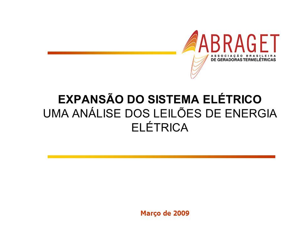 Março de 2009 EXPANSÃO DO SISTEMA ELÉTRICO UMA ANÁLISE DOS LEILÕES DE ENERGIA ELÉTRICA