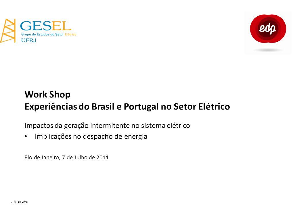 J. Allen Lima Work Shop Experiências do Brasil e Portugal no Setor Elétrico Impactos da geração intermitente no sistema elétrico Implicações no despac