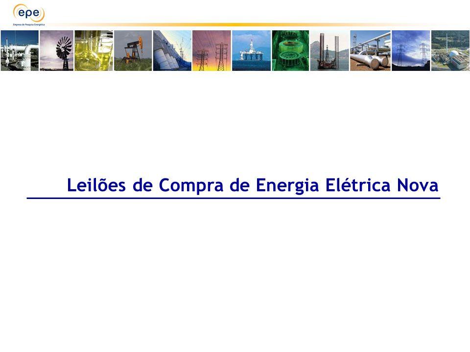 Leilões de Compra de Energia Elétrica Nova
