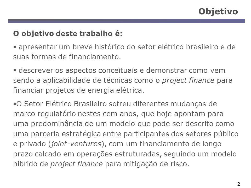 3 Apresentação Parte 1: Síntese das Fases de Desenvolvimento Histórico do Setor Elétrico Brasileiro.