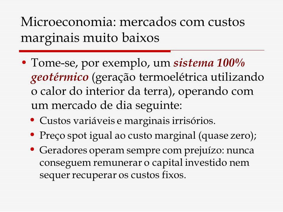 Microeconomia: mercados com custos marginais muito baixos Tome-se, por exemplo, um sistema 100% geotérmico (geração termoelétrica utilizando o calor d