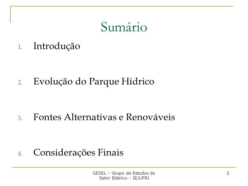 3.Fontes Renováveis e Alternativas 3.1.