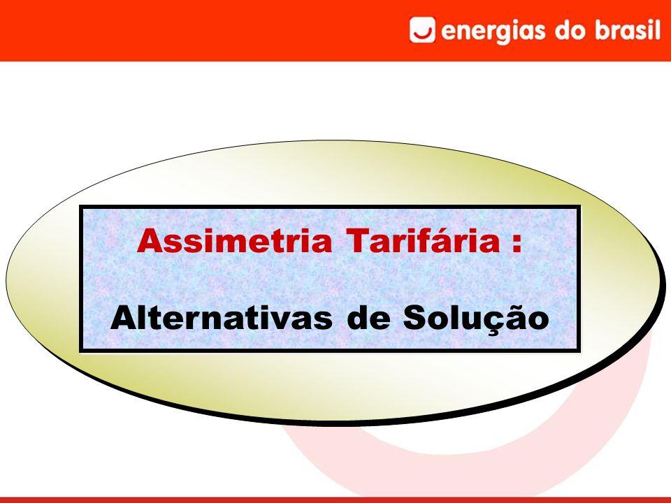 Assimetria Tarifária : Alternativas de Solução Assimetria Tarifária : Alternativas de Solução