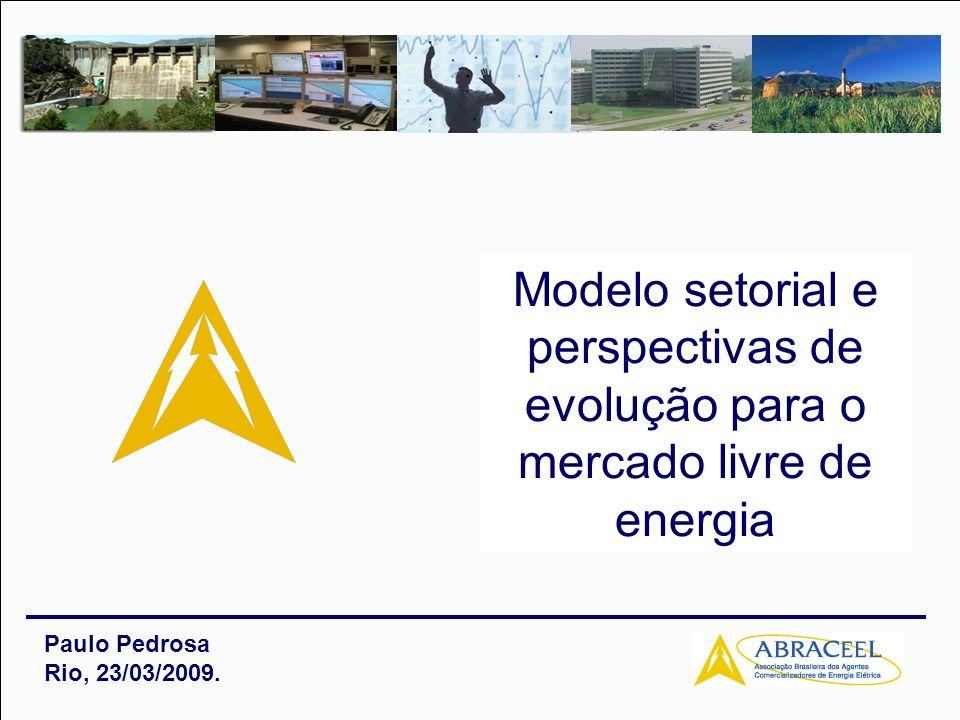 Paulo Pedrosa Rio, 23/03/2009. Modelo setorial e perspectivas de evolução para o mercado livre de energia