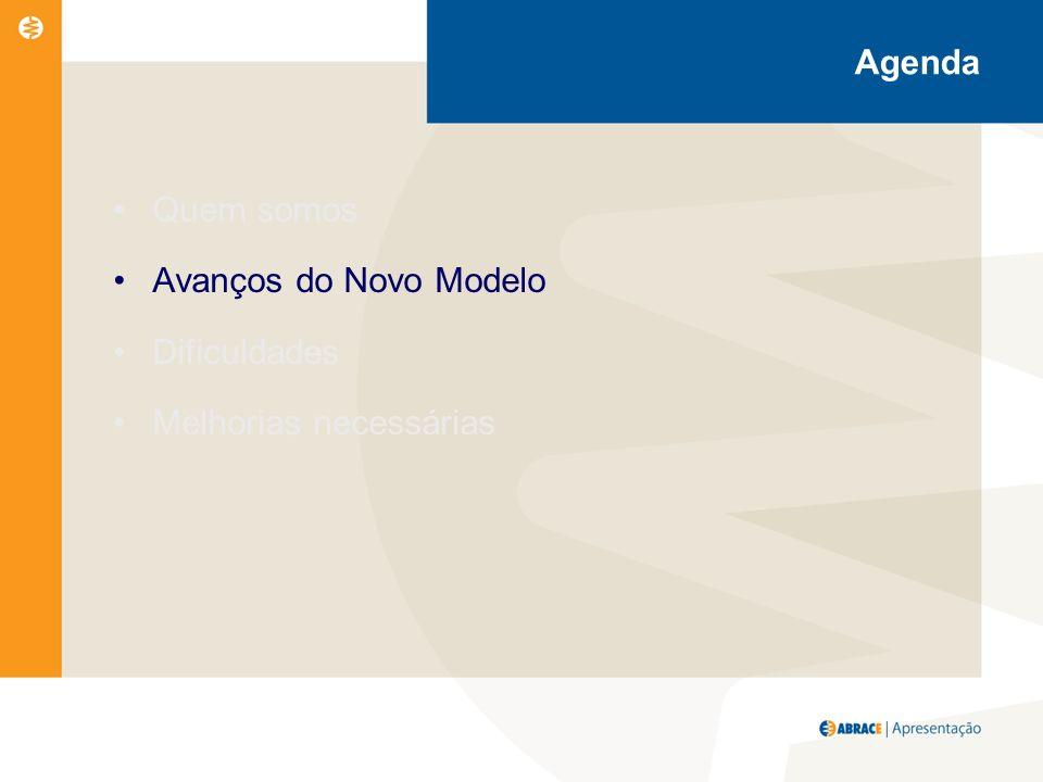 Agenda Quem somos Avanços do Novo Modelo Dificuldades Melhorias necessárias