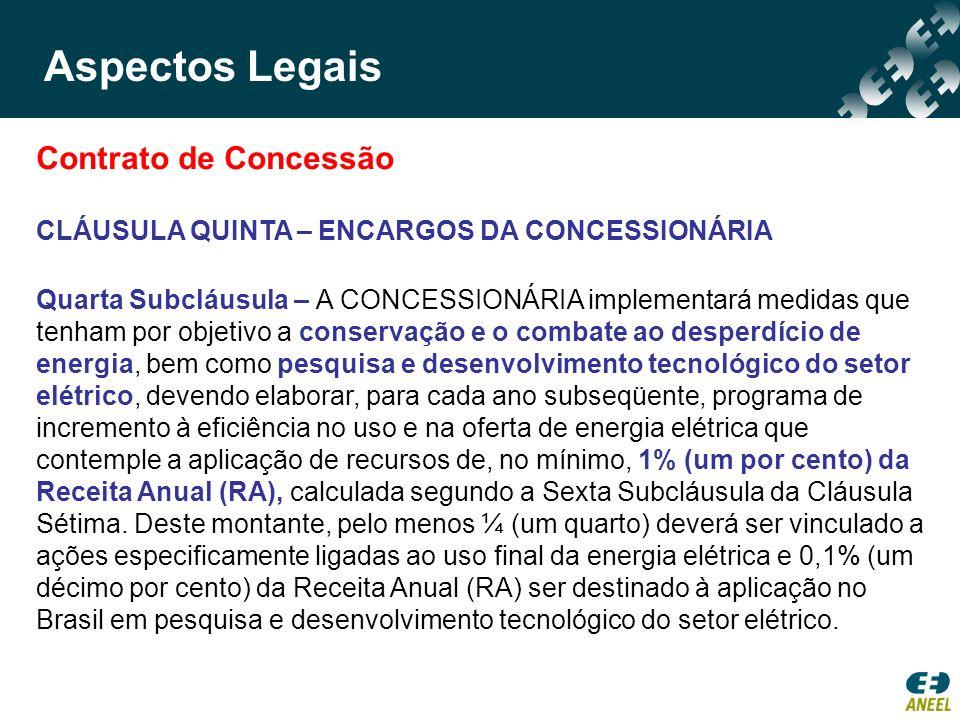 Contrato de Concessão CLÁUSULA QUINTA – ENCARGOS DA CONCESSIONÁRIA Quarta Subcláusula – A CONCESSIONÁRIA implementará medidas que tenham por objetivo