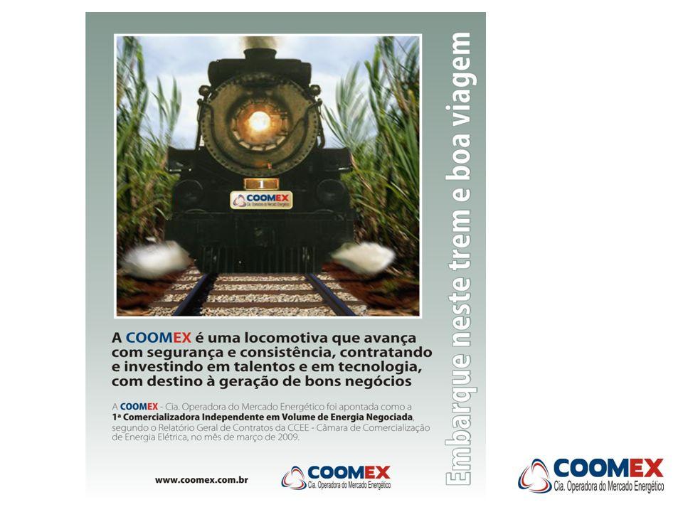 Despacho Fora da Ordem de Mérito Prevendo o efeito do despacho fora da ordem de mérito de custo, a COOMEX reuniu diversos geradores a biomassa de cana-de-açúcar para compor um portfólio de vendas no Nono Leilão de Ajuste (20/02/09).