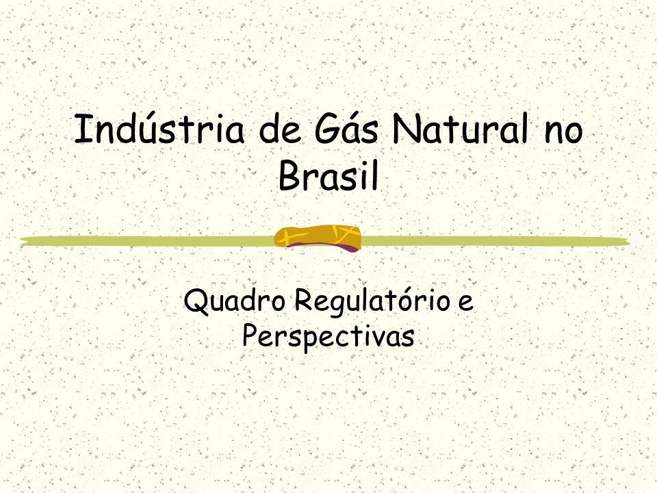 Situação presente da indústria brasileira de gás natural Elevada incerteza associada à principal fonte fornecedora do combustível (Bolívia); Discussão no Congresso Nacional sobre alternativas de marco regulatório para o setor.
