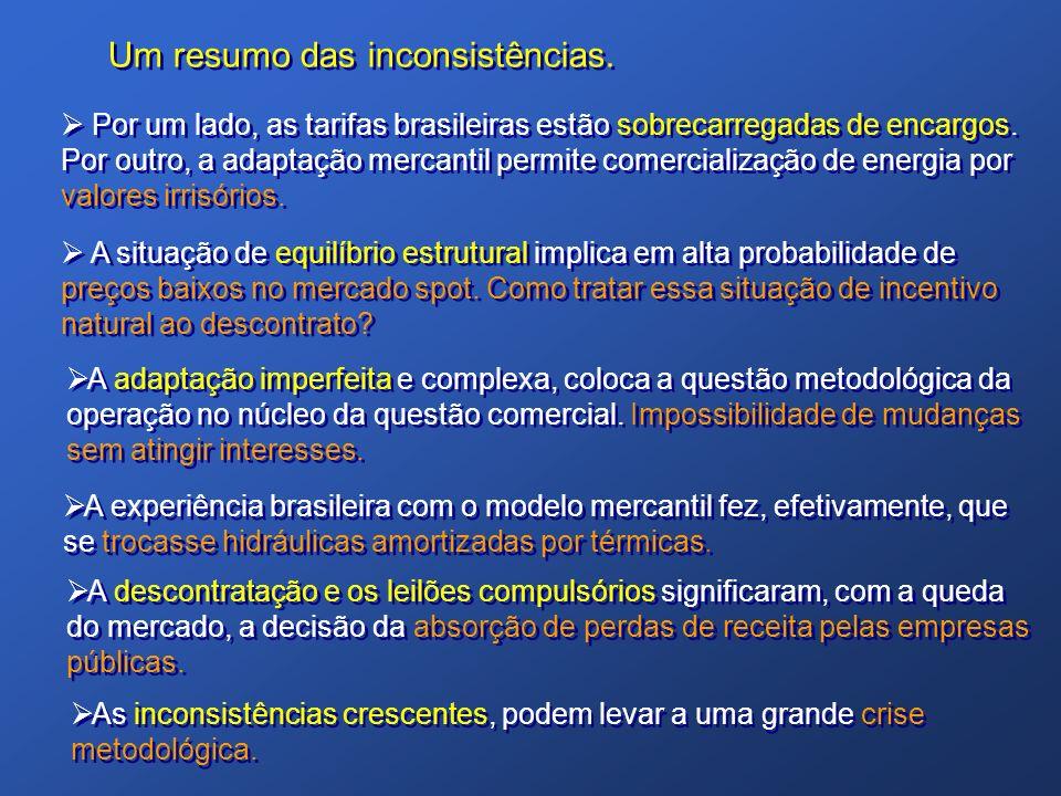 Por um lado, as tarifas brasileiras estão sobrecarregadas de encargos. Por outro, a adaptação mercantil permite comercialização de energia por valores