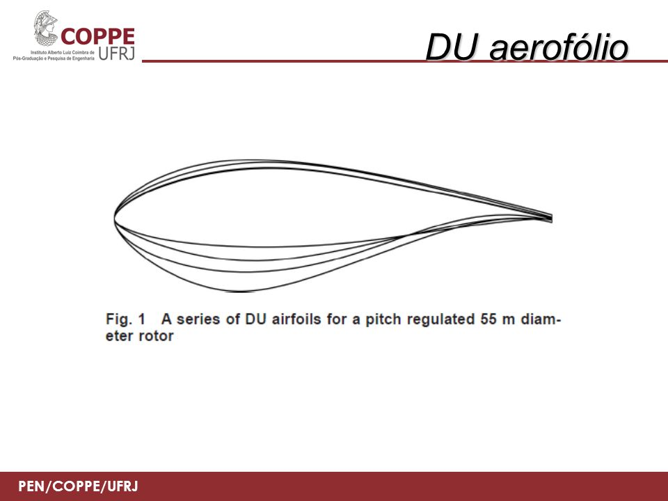 PEN/COPPE/UFRJ DU aerofólio