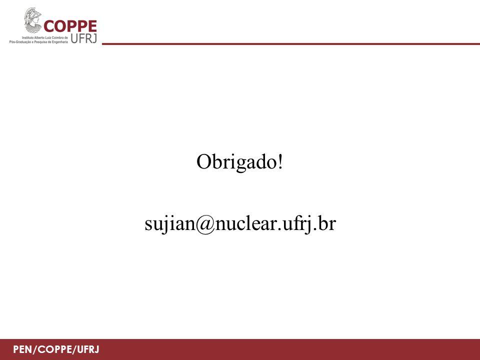 PEN/COPPE/UFRJ Obrigado! sujian@nuclear.ufrj.br